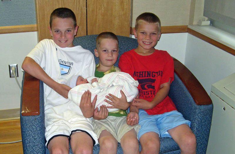 3 boys and a girl