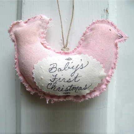 Baby first ornament