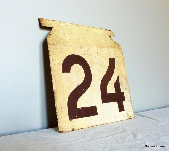 24 retro sign